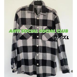 アンチ(ANTI)のANTI SOCIAL SOCIAL CLUB ネルシャツ チェックシャツ(シャツ)