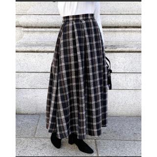 アイスー(i-SOOK)の最終値下げ【新品】ISOOK(アイスー)ウール混タータンチェックロングスカート(ロングスカート)