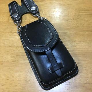 レッドムーン(REDMOON)の週末限定! デグナー(DEGNER) iPhone対応フリッケース ブラック(モバイルケース/カバー)