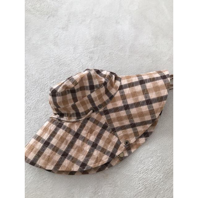 ZARA(ザラ)のZARA  チェック柄バケットハット Sサイズ レディースの帽子(ハット)の商品写真