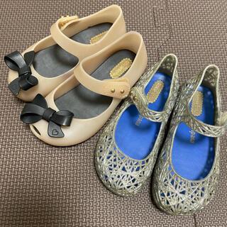 メリッサ(melissa)のミニメリッサ 2足セット 14.0 カンパーナ リボン 靴 サンダル(サンダル)