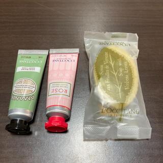 ロクシタン(L'OCCITANE)のロクシタン ミニハンドクリーム 石鹸セット アーモンド ローズ ヴァーベナ(ハンドクリーム)