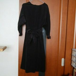 チャイルドウーマン(CHILD WOMAN)のワンピース CHILD WOMAN 黒 リボン ロングスカート スカート 黒(ロングワンピース/マキシワンピース)