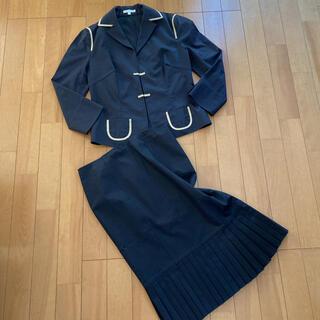 ポールカ(PAULE KA)のPAULE KA  ポールカ バイカラー スカート スーツ セットアップ 美品(スーツ)