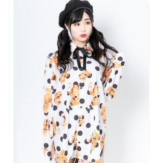 ミルクボーイ(MILKBOY)のTRAVAS TOKYO Dot bear Shirts クマ リボンシャツ(シャツ/ブラウス(長袖/七分))