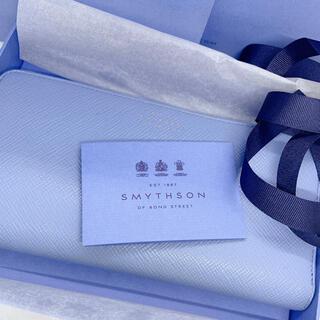 スマイソン(Smythson)の美品❣️スマイソン 長財布 Panama ナイルブルー(財布)