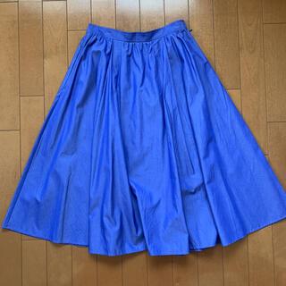 マッキントッシュフィロソフィー(MACKINTOSH PHILOSOPHY)のマッキントッシュフィロソフィー 膝丈 ブルー スカート(ひざ丈スカート)