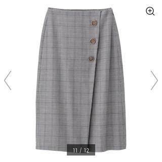 ジーユー(GU)のラップミディスカート GU(ひざ丈スカート)