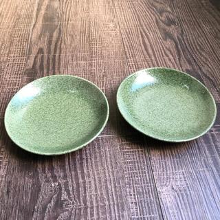 作家さん お皿 緑 2枚セット 小皿(食器)