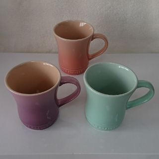 ルクルーゼ(LE CREUSET)のル・クルーゼ マグカップS  3個まとめ売り(グラス/カップ)
