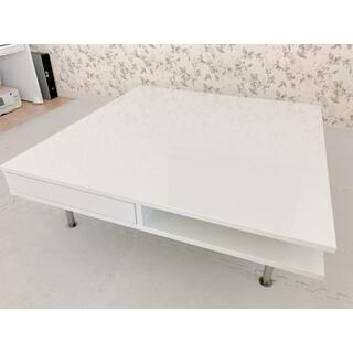 イケア(IKEA)のIKEA トフテリード ホワイトローテーブル(ローテーブル)