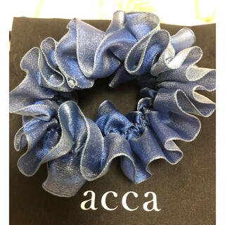 acca - acca シュシュ ブルー