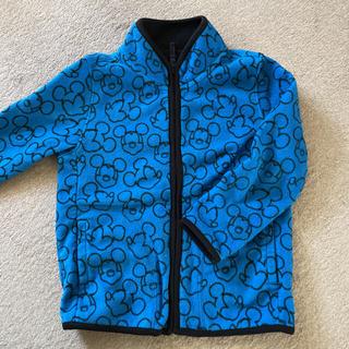 ユニクロ(UNIQLO)のユニクロ ミッキー柄 ブルー フリース(ジャケット/上着)