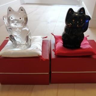 Baccarat - バカラ 招き猫 ペア 座布団付き