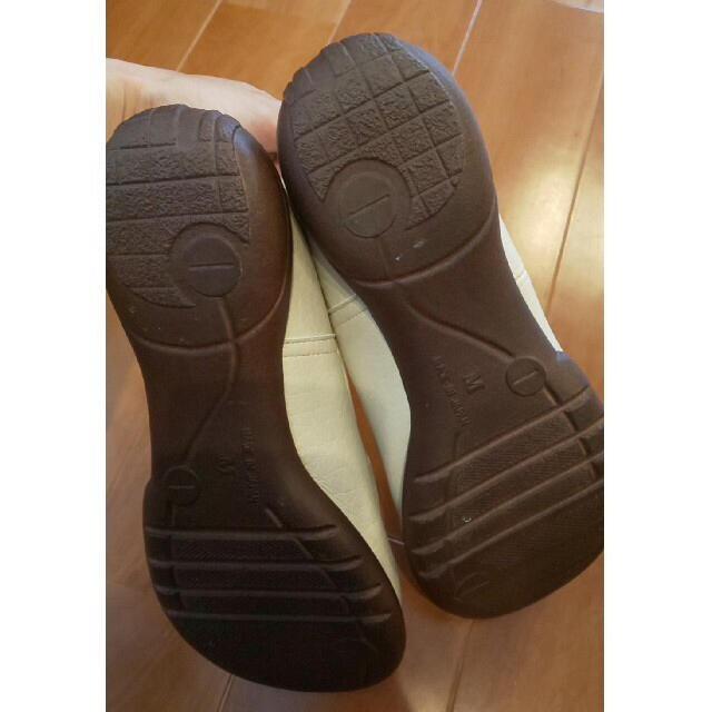 Re:getA(リゲッタ)のリゲッタカヌー R-302 アイボリー レディースの靴/シューズ(バレエシューズ)の商品写真