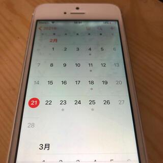 アイフォーン(iPhone)のiPhone5s 本体 訳あり:液晶動作するが水没らしき斑点あり(スマートフォン本体)