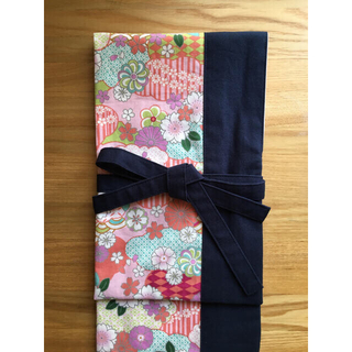 あき様専用、剣道 ピンク和柄×紺色 竹刀袋 3本入れ(相撲/武道)