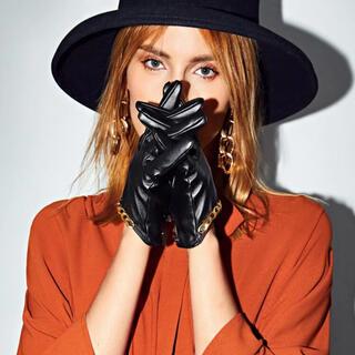 ザラ(ZARA)のチェーン付きフェイクレザー手袋⭐︎(手袋)