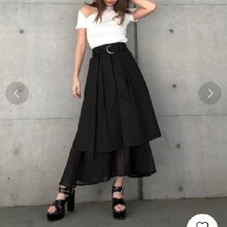 ENVYM - ENVYM フレアコンビロングスカート