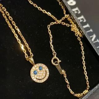 EYEFUNNY - EYEFUNNY アイファニー S ダイヤモンド スマイル ネックレス ブルー