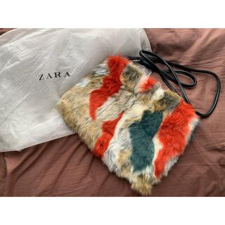 ZARA - ZARA クラッチバッグ ファー マルチカラー