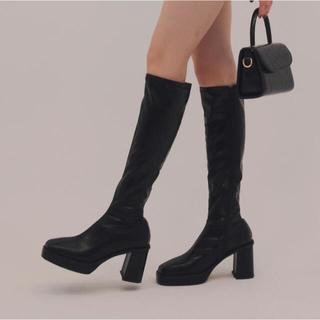 ZARA - 〈新品〉papermoon square long boots black