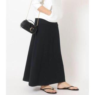 ドゥーズィエムクラス(DEUXIEME CLASSE)のDeuxieme Classe   *Jersey フレアスカート  ブラック(ロングスカート)