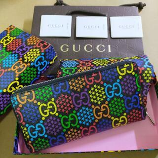 Gucci - 【グッチ】GG サイケデリック ジップアラウンド 長財布 男女共有 入手困難品