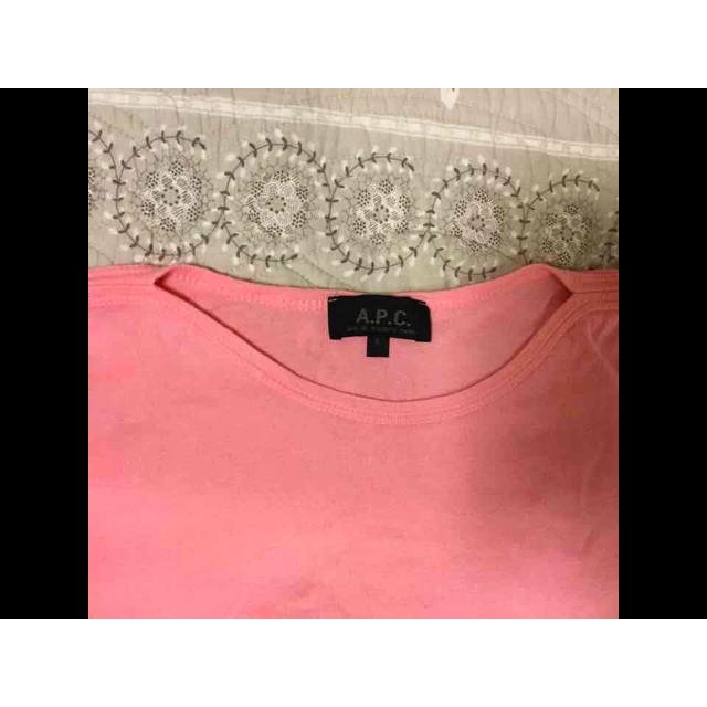 A.P.C(アーペーセー)のA.P.C.のコットンピンクのTシャツ レディースのトップス(Tシャツ(半袖/袖なし))の商品写真