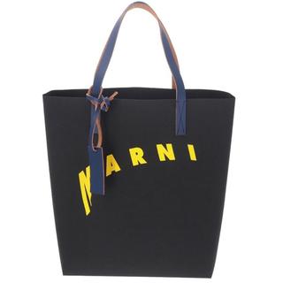 Marni - MARNI ロゴプリント フェイクレザートートバッグ