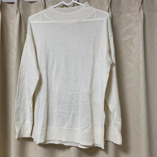ショコラフィネローブ(chocol raffine robe)のニット 薄手 ホワイト アイボリー 春服(ニット/セーター)
