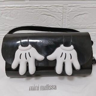 メリッサ(melissa)の美品 mini melissa ショルダーバッグ ポシェット ミッキー 黒(ショルダーバッグ)