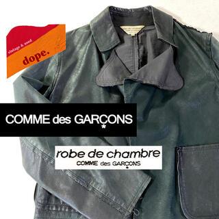 コムデギャルソン(COMME des GARCONS)の▼ robe de chambre COMME des GARCONS ▼(ライダースジャケット)