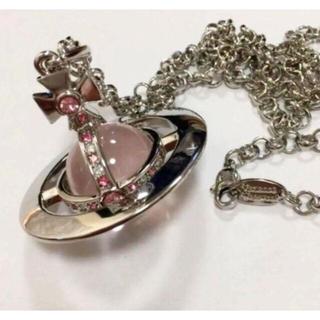 Vivienne Westwood - 新品未使用*ヴィヴィアン スモールオーブネックレス silver×pink