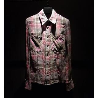イサムカタヤマバックラッシュ(ISAMUKATAYAMA BACKLASH)の(定価49350)バックラッシュBACKLASH・チェックプリントシャツ(シャツ)