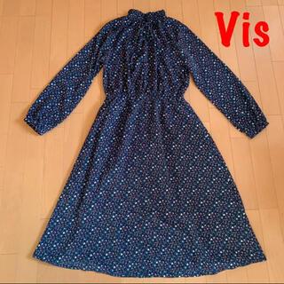 ViS - Vis  ヴィス 花柄ワンピース  ロングワンピース