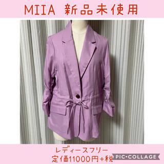 ミーア(MIIA)の047 ミーア ギャザースリーブテラードジャケット(スプリングコート)