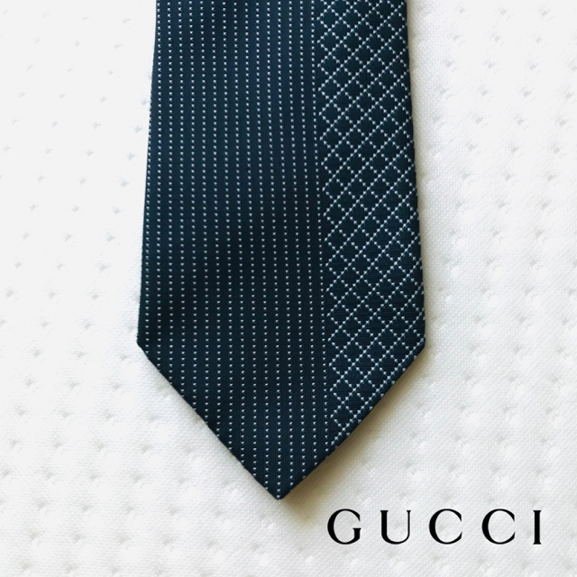 Gucci(グッチ)のグッチ ネクタイ ネイビー ディアマンテ メンズのファッション小物(ネクタイ)の商品写真