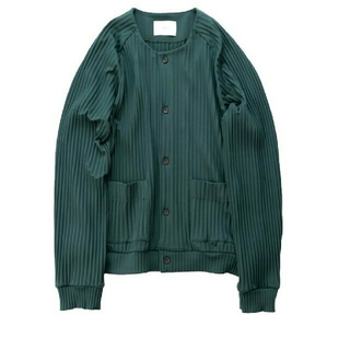 SUNSEA - stein pleated knit cardigan 送料込 サイズM