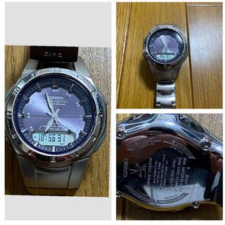 カシオ(CASIO)のCASIOの電波ソーラーウォッチWVAー400J(腕時計(デジタル))