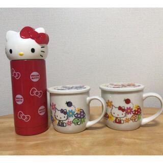 ハローキティ(ハローキティ)のハローキティ☆ペアマグカップ&ステンレスボトルセット(食器)