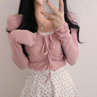 STYLENANDA - 【予約商品】《4カラー》シャーリング クロップド トップス 韓国ファッション