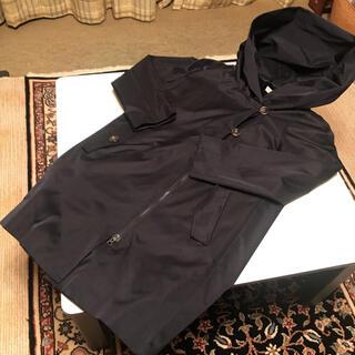 バーニーズニューヨーク(BARNEYS NEW YORK)の襟がとっても大きいお洒落なライナー付きトレンチコート ネイビー(トレンチコート)
