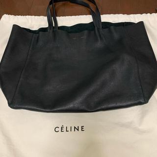 celine - CELINE ホリゾンタルカバ トートバッグ 黒