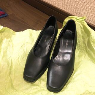 アオヤマ(青山)の洋服の青山 就活 パンプス ブラック 黒 ヒール 靴(ハイヒール/パンプス)