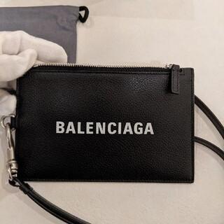 バレンシアガ(Balenciaga)の 【新品正規品】BALENCIAGA  バレンシアガ ストラップ付 (名刺入れ/定期入れ)