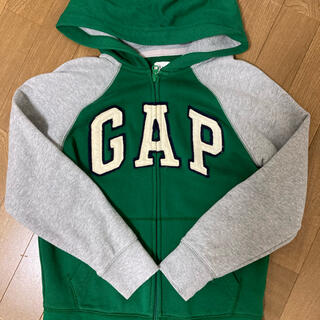 GAP Kids - GAPパーカー KIDS 130 中古 美品 グリーン
