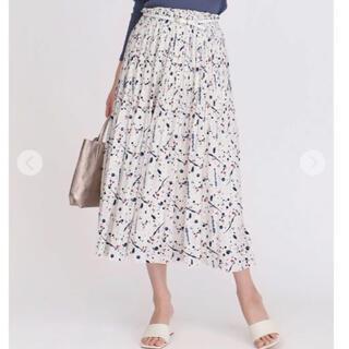 アーモワールカプリス(armoire caprice)のアーモワールカプリス TOKI&NABI ペイント柄 プリーツスカート(ロングスカート)