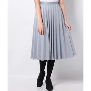 アナイ(ANAYI)のアナイ   スエード調フレアプリーツスカート(ロングスカート)