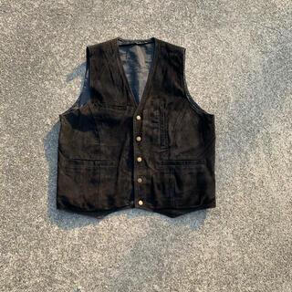 アンユーズド(UNUSED)のvintage pig skin leather vest(ベスト)